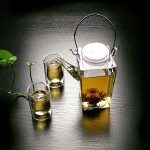 Caddy Pot and 100ml thermal double walled glasses