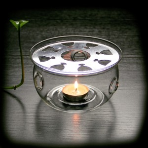 Glass Tea Candle Warmer Stand